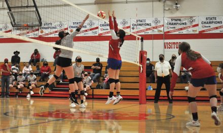 Estancia volleyball outlasts Mountainair in emotional regular-season finale