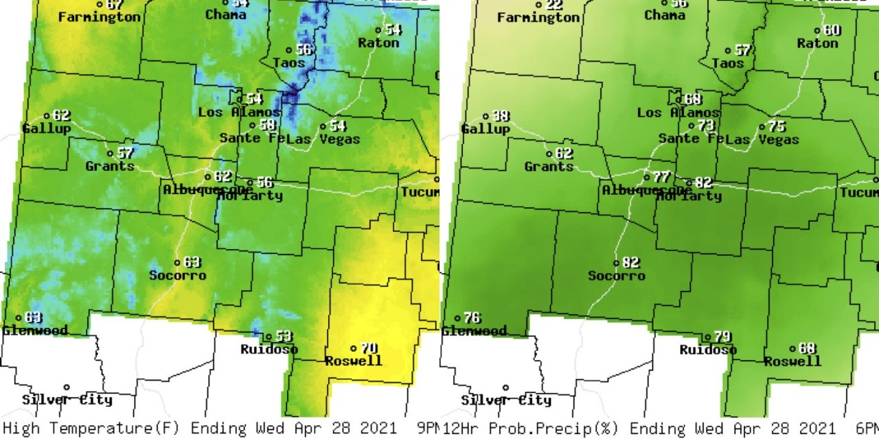 Forecast for the week of April 26 for the East Mountains and Estancia Valley