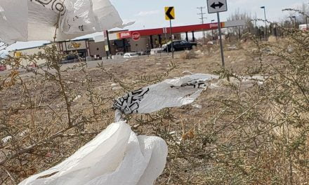 Trash piles up around Pilot Travel Center