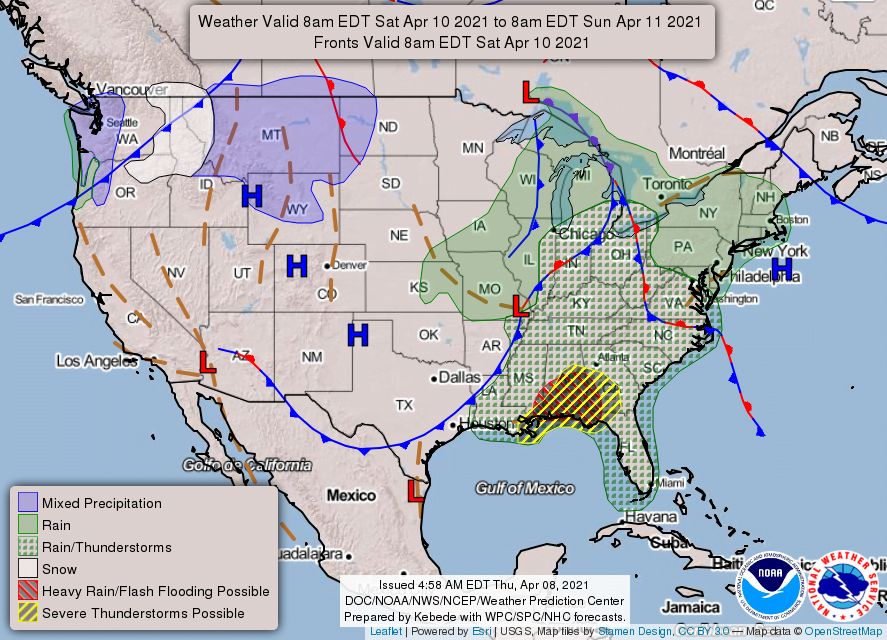 New Feature: Weekend Weather Forecast (April 10-11) for the East Mountains and Estancia Valley