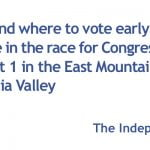 Voting deadlines and polling locations for Congressional District 1