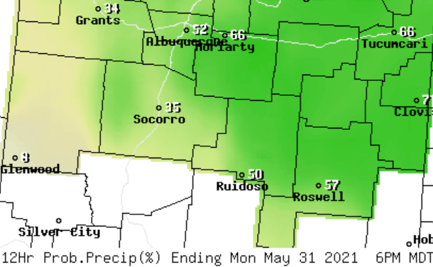 Memorial Day Holiday Weekend Forecast for the East Mountains and Estancia Valley