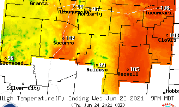 Weather Forecast for the week of June 21 for the East Mountains and Estancia Valley