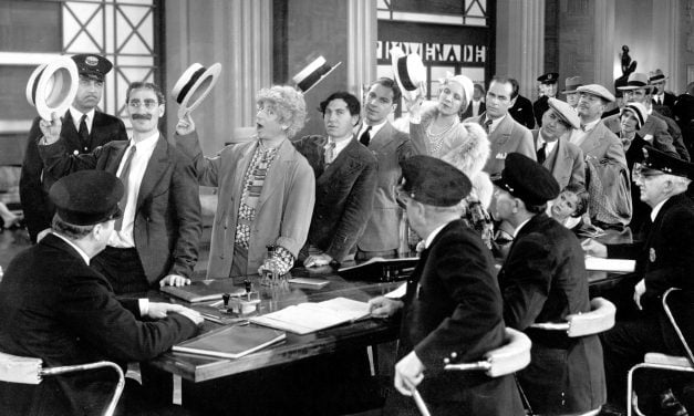 four marx brothers together in 'monkey business'