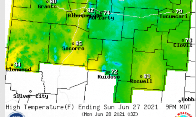 June 25-27 Forecast for the east mountains and estancia valley: Much cooler and wetter