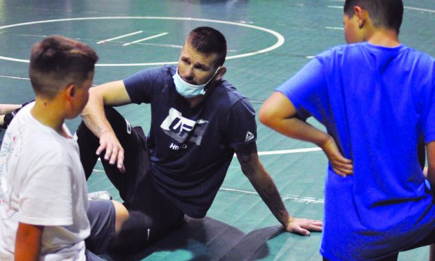 Young grapplers go at it with gusto at Moriarty's summer wrestling camp