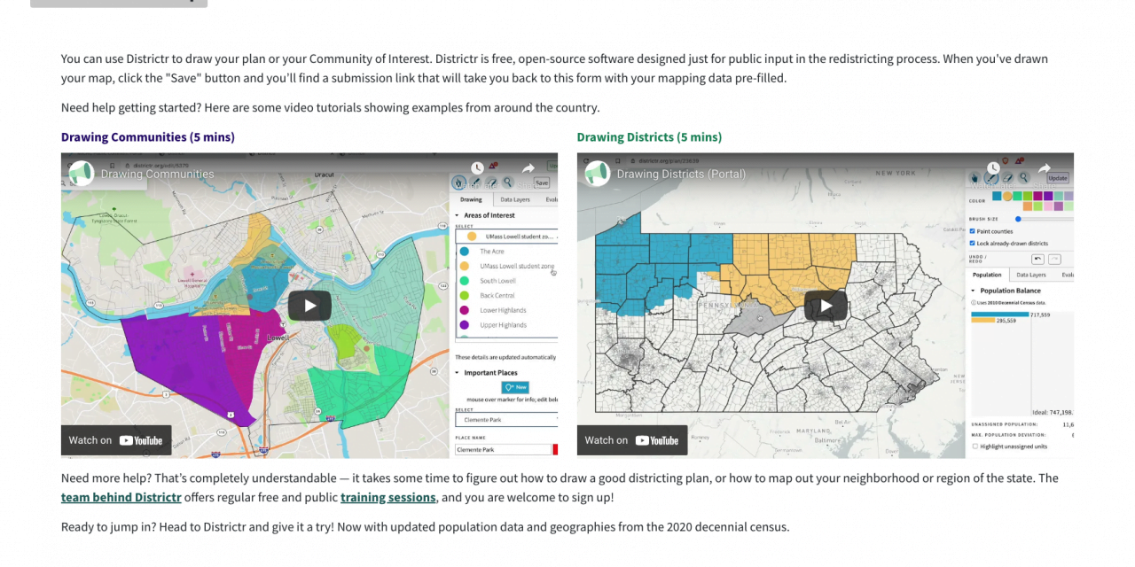 Draw your own redistricting map and submit it